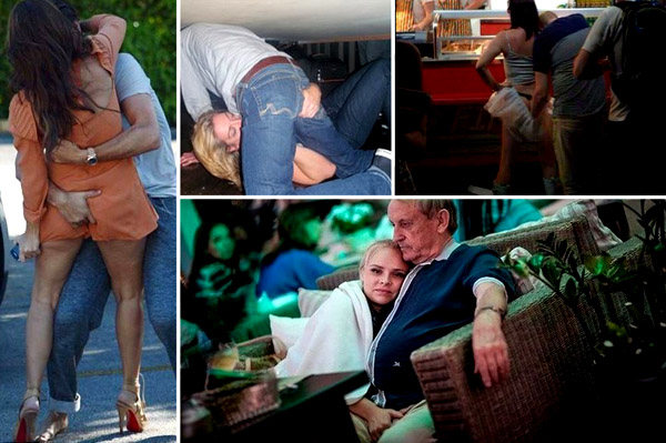 19 cupluri în călduri, care au uitat că sunt în public