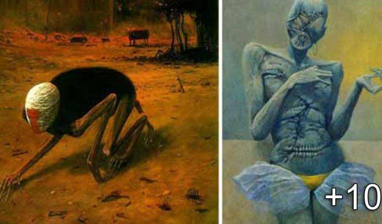 """Pictorul care şi-a """"fotografiat"""" visele îţi va da coşmaruri la noapte cu creaţiile sale"""