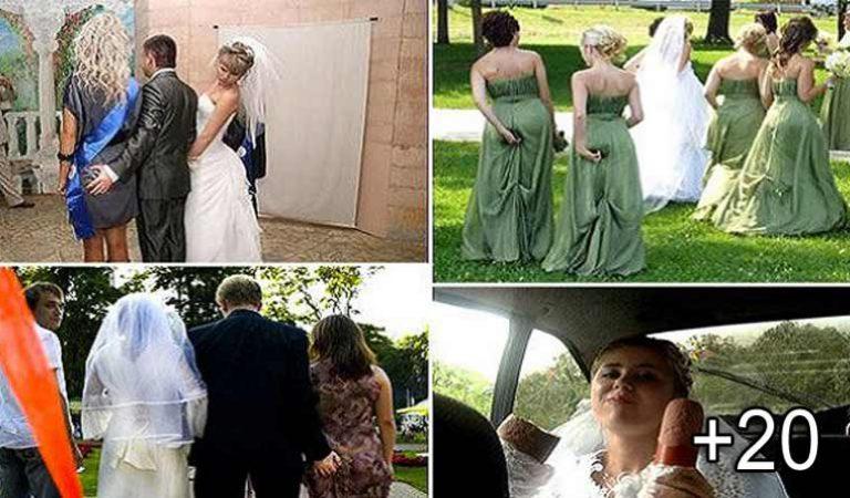 21 de momente incredibil de ciudate, surprinse în timpul nunţilor