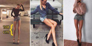 femeie cu picioare foarte lungi