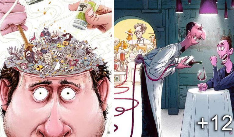 14 ilustraţii care prezintă secvenţe din realitate, într-un mod brutal de adevărat