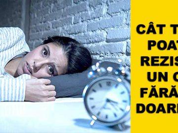 cat timp rezista un om fara sa doarma
