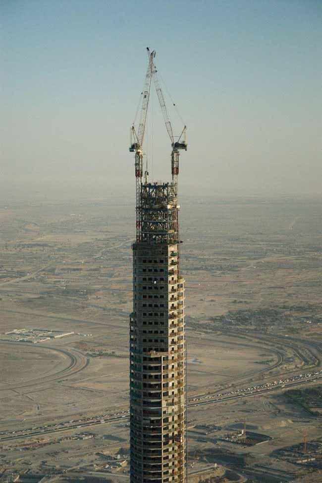 fotografii din timpul construirii burj khalifa