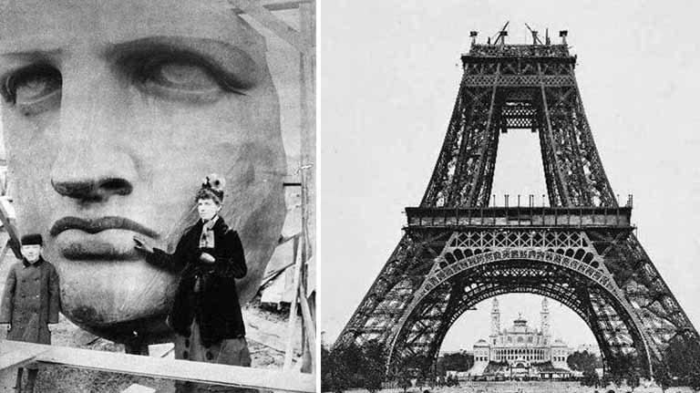 10 fotografii impresionante, din timpul construirii celor mai faimoase monumente