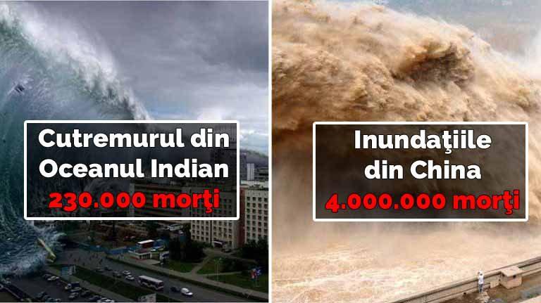 Top 10 cele mai mortale dezastre naturale din istoria omenirii