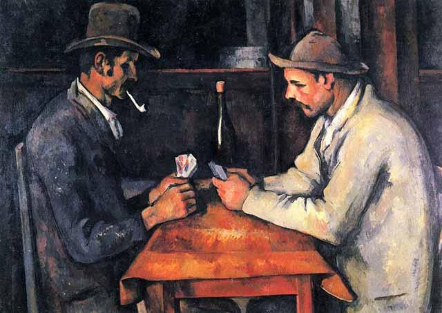 jucatori de carti - Paul Cézanne cele mai scumpe tablouri