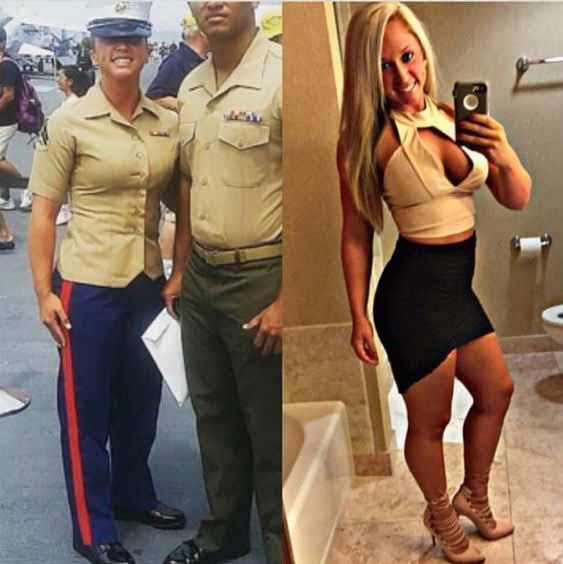 femei in uniforma