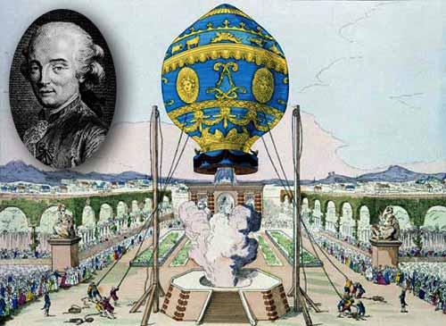 primul om care a zburat cu un balon cu aer cald