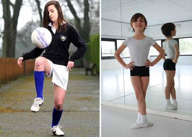 fata care joaca fotbal