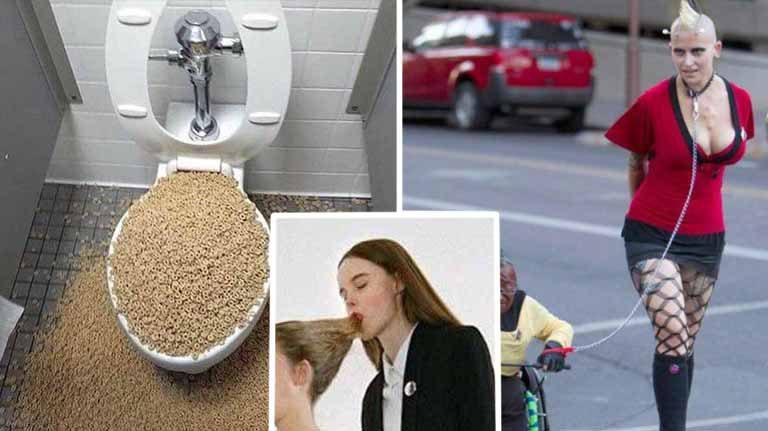 10 poze ciudate cu oameni, care arată că ceva e în neregulă cu lumea