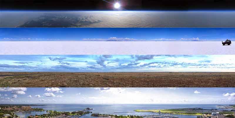 linia orizontului nu este curba