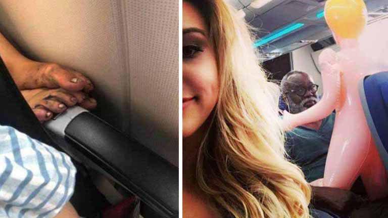10 pasageri din avion, alături de care nu ţi-ai dori niciodată să zbori