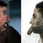 tatuaje pe faţă
