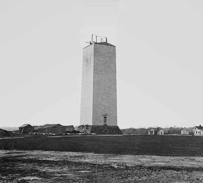 fotografii din timpul construirii monumentul washington