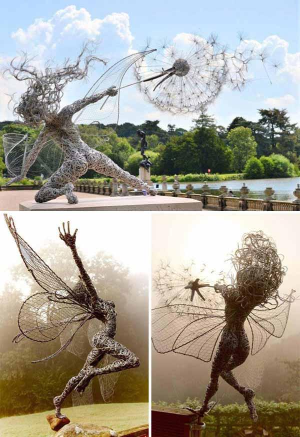 sculptura zana din sarma sculpturi care sfidează legile fizicii