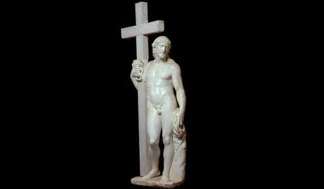 Statuia lui Iisus dezbrăcat