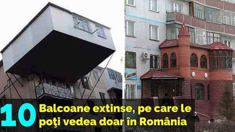 10 balcoane extinse în exterior, pe care le poţi vedea numai în România