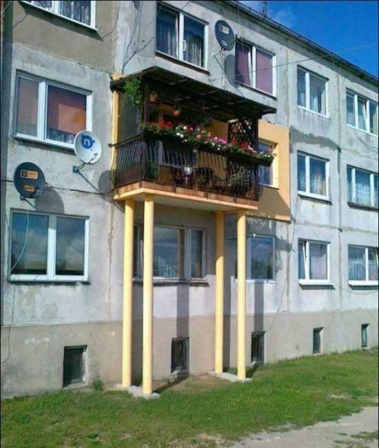 balcon cu picioare