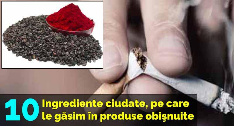 ingrediente ciudate din produse
