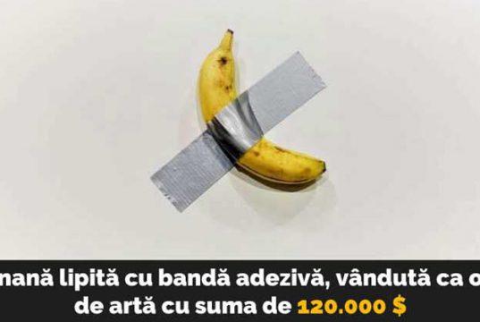 banană lipită cu bandă adezivă