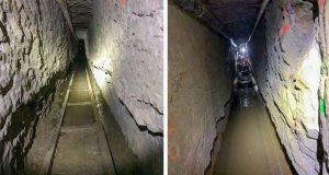 tunel folosit pentru traficul de droguri