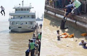 căpitanul vasului a sărit în apă
