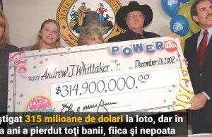 câştigat 315 milioane loto a pierdut