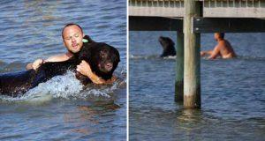 bărbat a salvat un urs