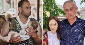 soldat a salvat o fetiţă